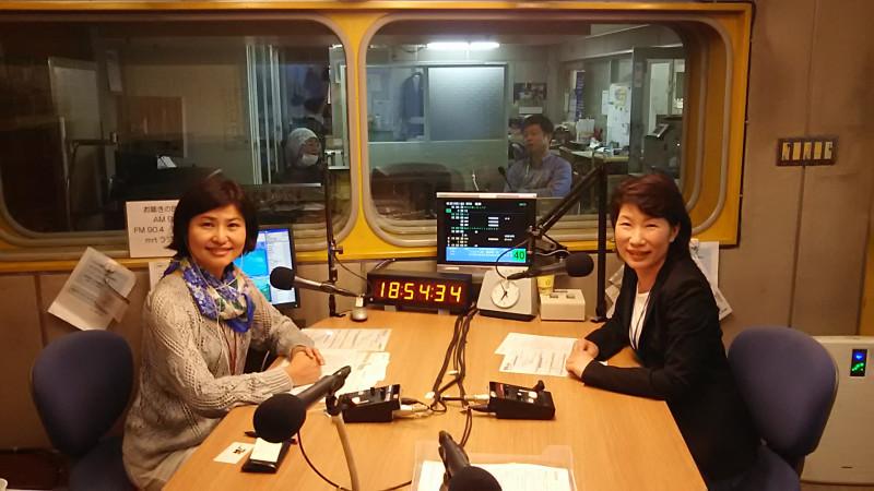 MRTラジオ「明日が見えるラジオ」に出演